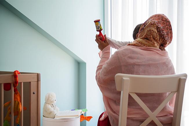 Frauenhaus Norderstedt, Ruhe finden, Mutter und Kind